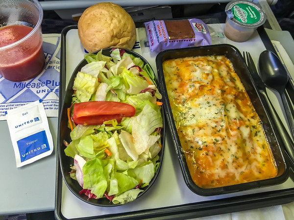 A not-to-bad dinner on board our flight to Paris.  Of course, I'm in Economy seating.....actually Economy Plus.....I splurged a bit for the upgrade which is actually pretty nice and comfortable....:-)    See you in a few hours as we near Europe!