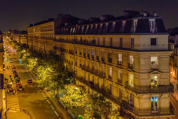 Paris at night......from my charming little hotel room......